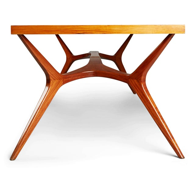 Glass 1950s Vintage Giuseppe Scapinelli Brazilian Sculptural Dining Table For Sale - Image 7 of 11