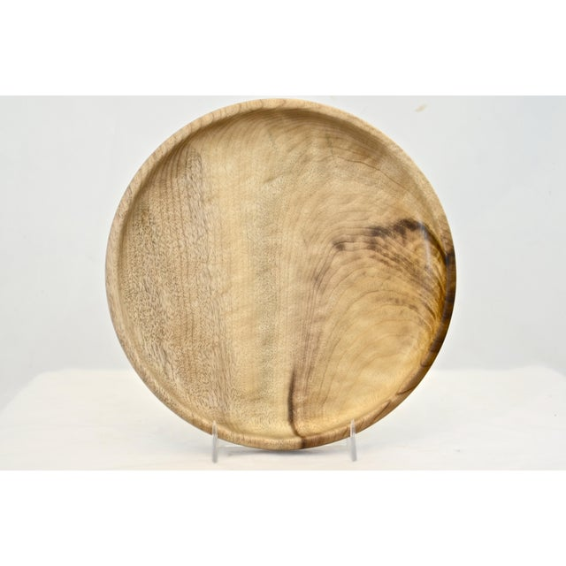 """Hand Turned 8"""" Wood Tray For Sale In Chicago - Image 6 of 6"""