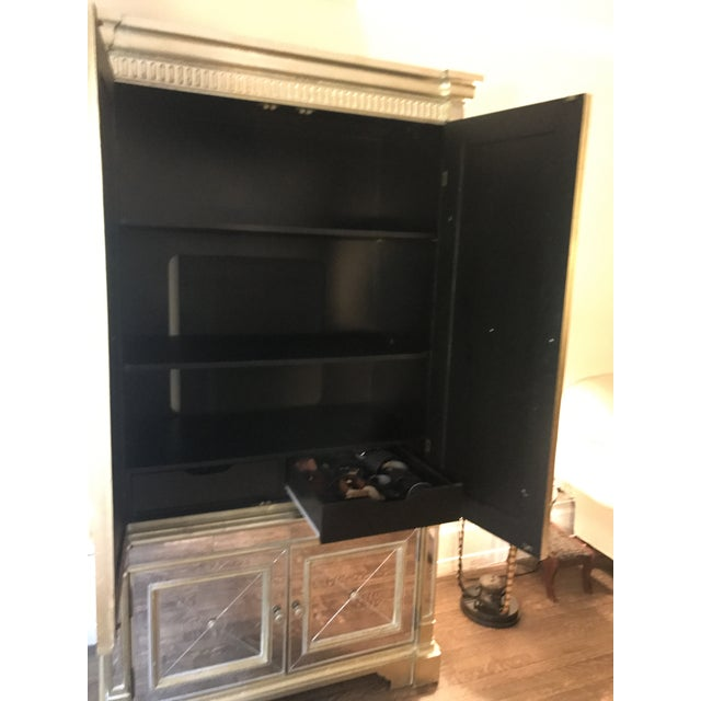 Neiman Marcus Mirrored Armoire For Sale - Image 5 of 7