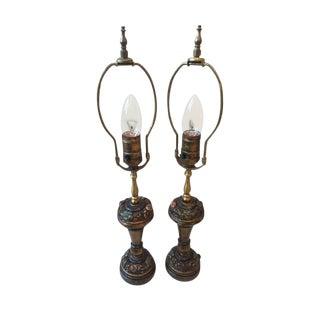 Depression Era Petite Lamps - a Pair For Sale
