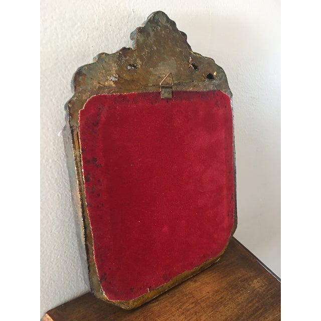 Antique Small Decorative Gilt Mirror For Sale In Los Angeles - Image 6 of 6