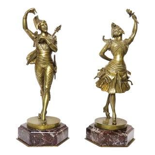 Vintage Tiffany & Co. Bronze Figures by Lafon Mollo - a Pair For Sale