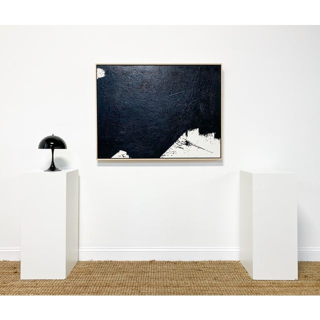 In Tar series. Art Dimensions: 48 x 36 h inches Framed Dimensions: 49.5 x 37.5 inches. Beautiful, custom maple float frame...