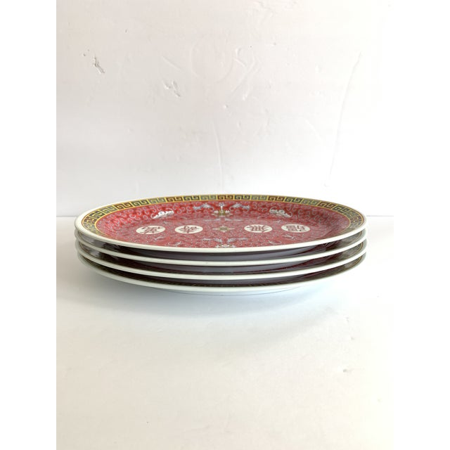 Asian Asian Chinese Oval Serving Platter Melamine Set of 4 For Sale - Image 3 of 8