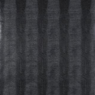 Sample - Schumacher Komodo Wallpaper in Black Orchid For Sale