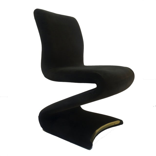 Panton Style Z Dining Chairs With Brass - Set of 6 - Image 2 of 8