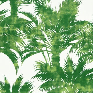 Scalamandre Palm Print Fabric in Palm For Sale