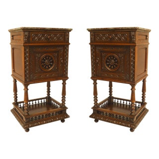 Pair of French Provincial Brittany Style Bedside Commodes For Sale