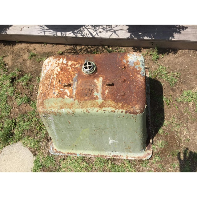 Cast Iron Antique Salvage Utility Sink For Sale - Image 5 of 11