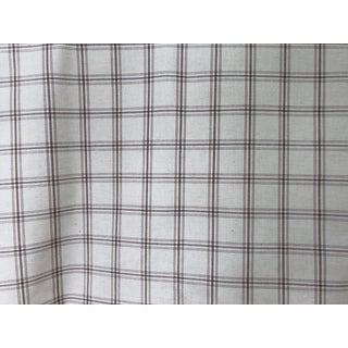 Ian Mankin 'Holland Check' Nordic Mocha Fabric - 4 Yards For Sale