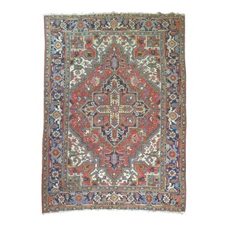 Antique Persian Heriz Rug - 6'9'' x 8'9'' For Sale
