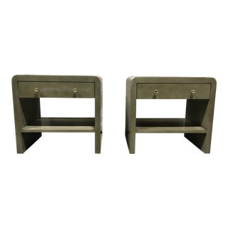 Dion Light Gray Nightstands - A Pair For Sale