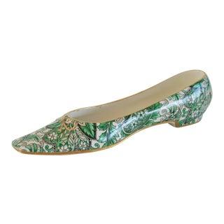 Mottahedeh Green Paisley Decorative Shoe For Sale