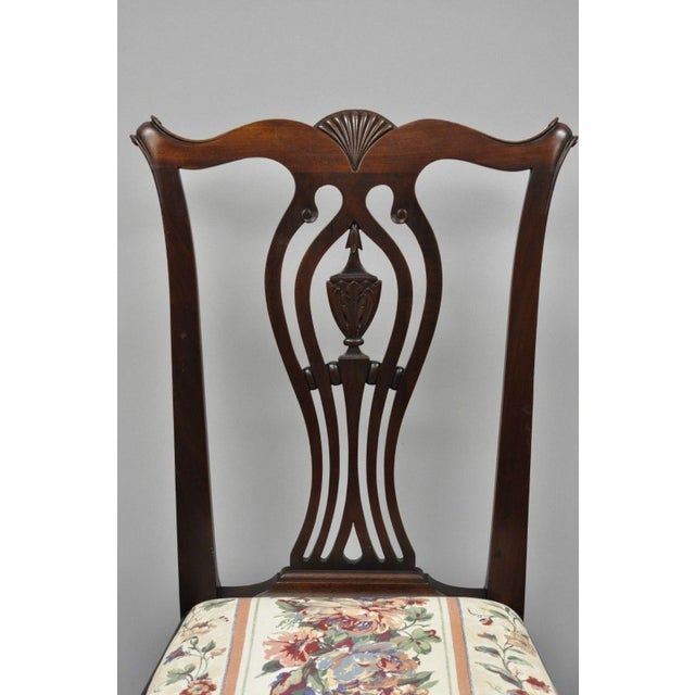 Chippendale Early 20th Century Antique Mahogany Chippendale Style Dining  Chairs - Set of 6 For Sale - Early 20th Century Antique Mahogany Chippendale Style Dining Chairs
