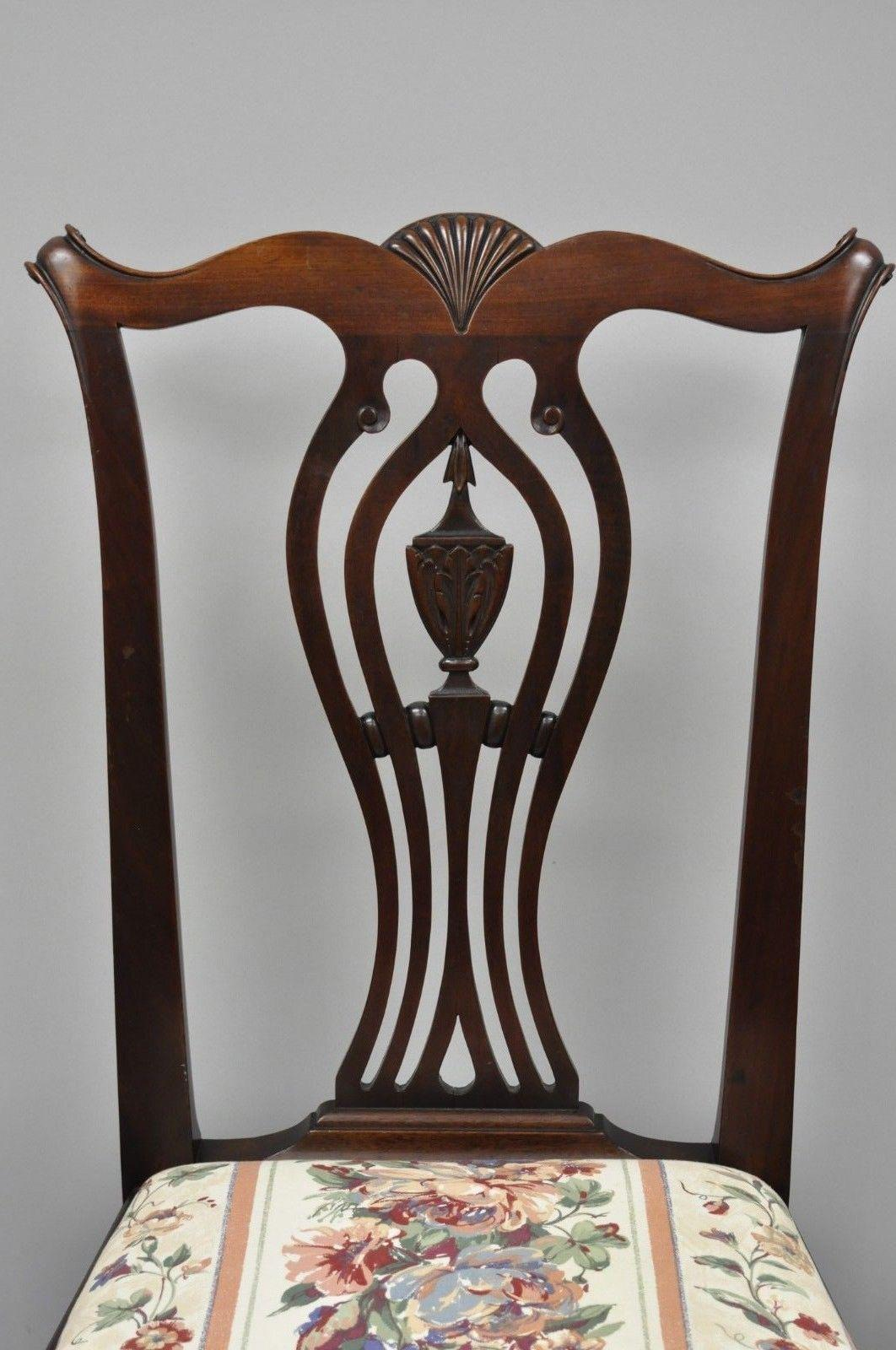 Captivating Chippendale Early 20th Century Antique Mahogany Chippendale Style Dining  Chairs   Set Of 6 For Sale