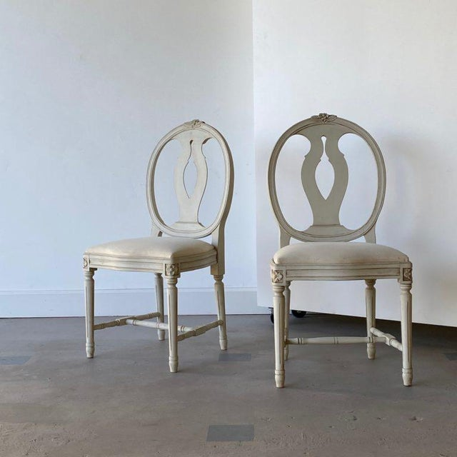 Gustavian (Swedish) Mid 20th Century Swedish Dining Chairs - A Pair For Sale - Image 3 of 12