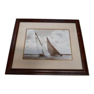 Nautical Sepia Sailing Print For Sale