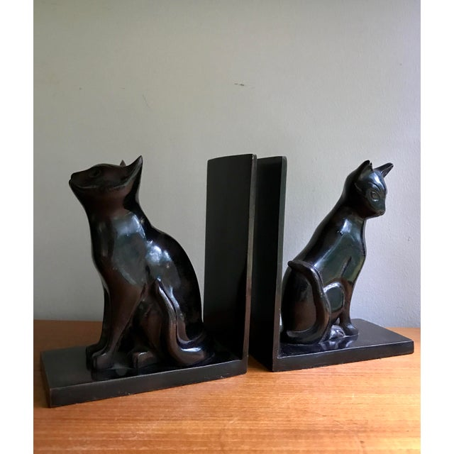 Vintage Book Ends Cats - Polished Stone, a Pair For Sale In New York - Image 6 of 9