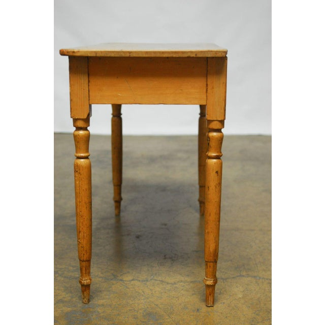19th Century French Pine Console Table For Sale - Image 5 of 9