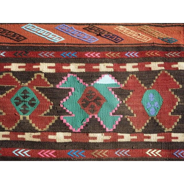 """Textile Vintage Turkish Kilim Runner-2'6'x10"""" For Sale - Image 7 of 13"""