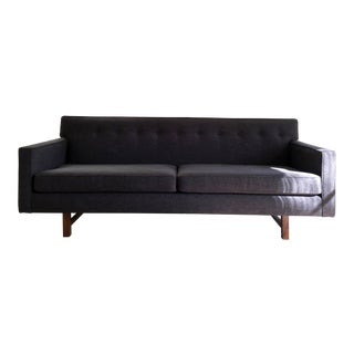 Charcoal Mid-Century Modern Style Sofa