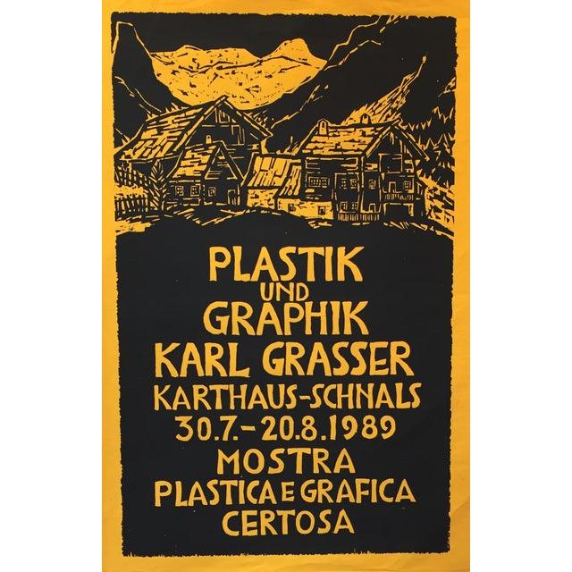 1989 Italian Exhibition Poster, Karl Grasser For Sale
