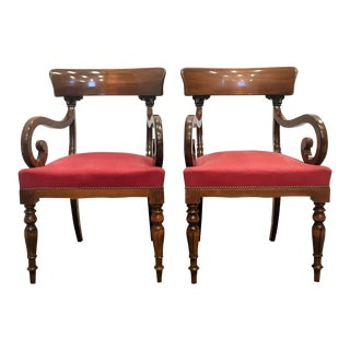 Swedish Empire Armchairs - Pair For Sale