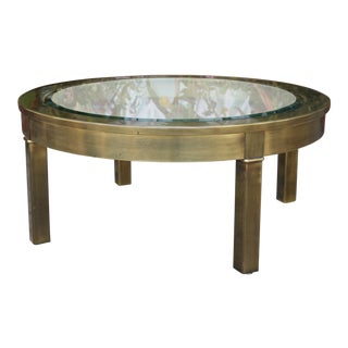 Mastercraft Round Small Coffee Table For Sale