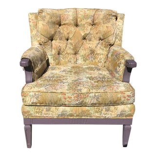 1940s Traditional Upholstered Armchair For Sale