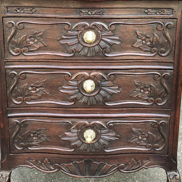 Mid 20th Century Antique Country French Louis XV Commode For Sale - Image 5 of 11