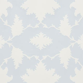 Sample - Schumacher X Mary McDonald Garden of Persia Wallpaper in Mineral For Sale