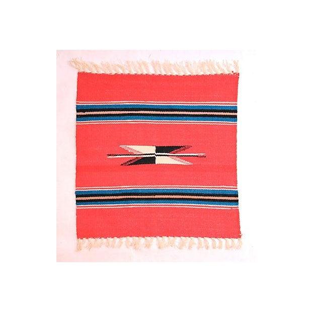 Boho Chic Vintage Chimayo Weaving For Sale - Image 3 of 3