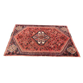 1940s Vintage Persian Rug - 3′7″ × 5′6″ For Sale