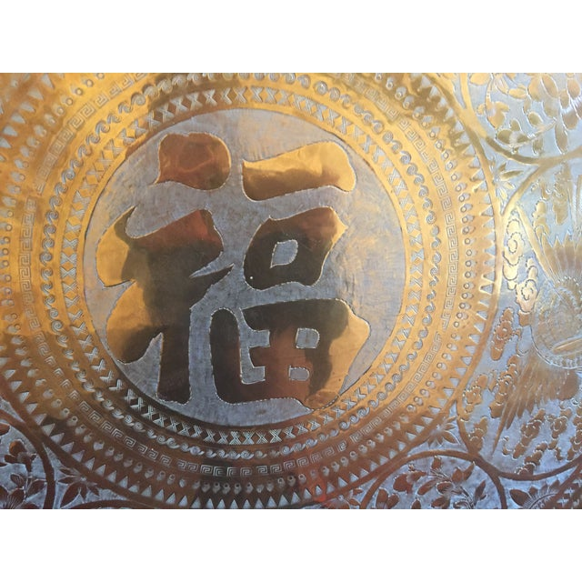 MCM Oriental Brass Tray Table - Image 4 of 10