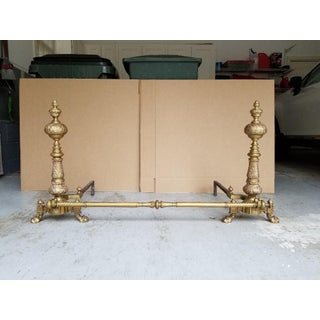 Late 19th Century Antique French Baroque-Style Bronze Andirons- A Pair Preview
