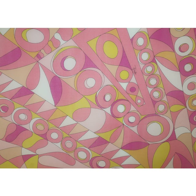 Textile Large Emilio Pucci Cotton Sarong Length Scarf For Sale - Image 7 of 12