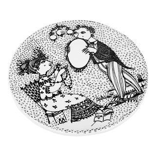 1970s Vintage Bjorn Wiinblad Porcelain Month Plate For Sale