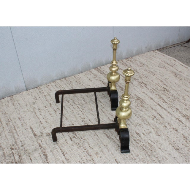 Metal 1930s Bronze Andirons For Sale - Image 7 of 13