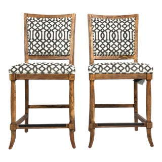 Contemporary Fairfield Counter Stools - a Pair