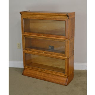 Antique Oak 3 Stack Barrister Bookcase by Viking Preview