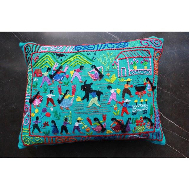La Fiesta en El Pueblo Pillow - Image 2 of 3