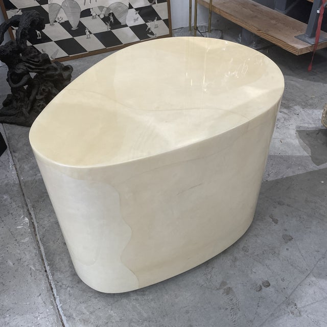 1970s Modern Goatskin Coffee Table For Sale - Image 10 of 10