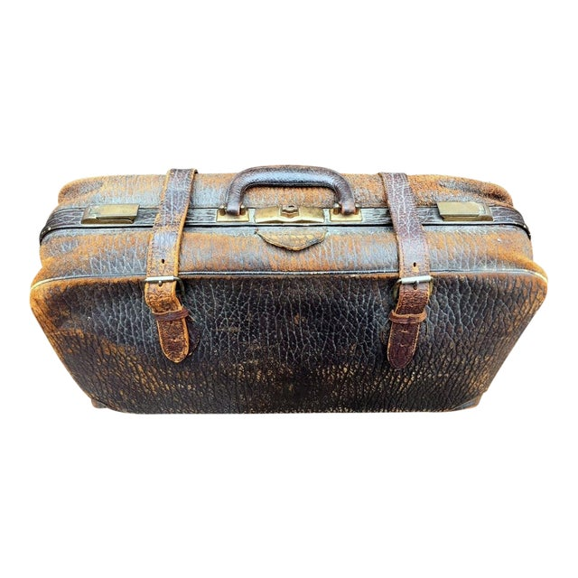 Leather Strap Suitcase For Sale