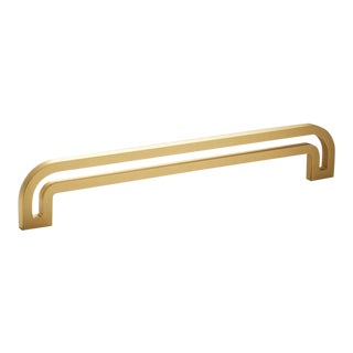 Nest Studio Collection Deco-12 Satin Brass Handle For Sale