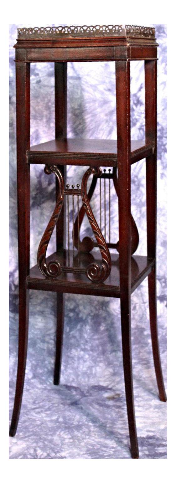 Antique Duncan Phyfe Mahogany Square Pedestal Table