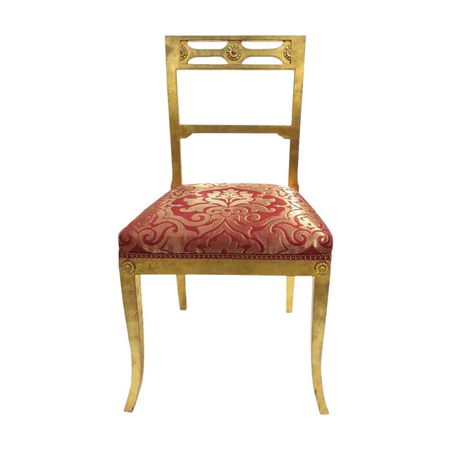 Gold Leafing Side Chair - Image 1 of 2