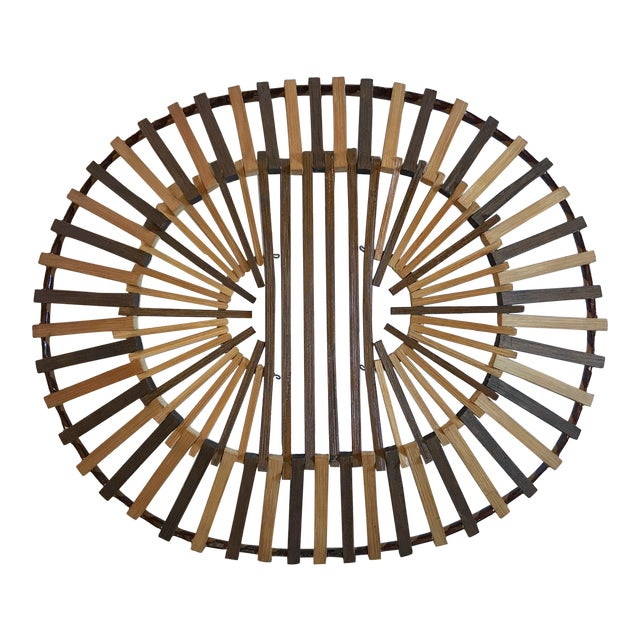 20th Century Boho Chic Two Color Stick Basket For Sale