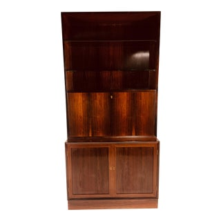 1960s Danish Modern Rosewood Cabinet For Sale