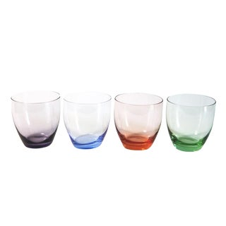 Colored Juice Glasses - Set of 4 For Sale