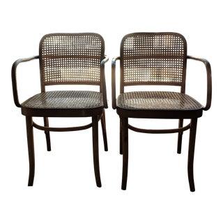 Set of Mid-Century Modern Josef Hoffmann Prague Chairs